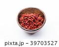 ackground view of dried red goji berries Chinese m 39703527
