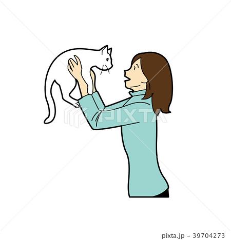 猫と女性 39704273