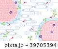 金魚 流水模様 柄のイラスト 39705394