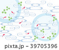 金魚 流水模様 柄のイラスト 39705396