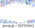 水玉 水彩 コピースペースのイラスト 39705642