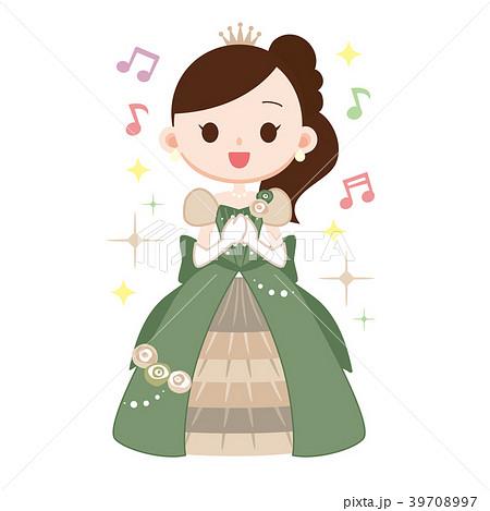 ミュージカル女優 ヒロイン役 歌うのイラスト素材 39708997 Pixta