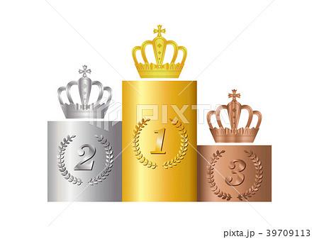 表彰台と王冠 39709113