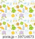 梅雨のイラスト シームレスパターン 39714673