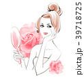 ビューティー 女性 薔薇のイラスト 39718725