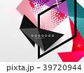 ジオメトリック 幾何学的 背景のイラスト 39720944