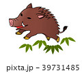 年賀状 猪  39731485