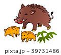 年賀状 猪  39731486