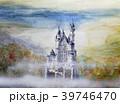ノイシュバイシュタイン城 手描きスケッチ シンデレラ城 39746470