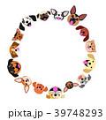 犬たちの顔のサークル カラー 39748293