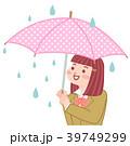傘 雨 女の子のイラスト 39749299