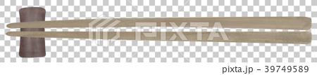 手描き 食器 お箸と箸置き 39749589