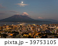 鹿児島 桜島の夜景 市街地 月光の錦江湾 39753105