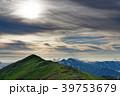 本山小屋付近から見る夕暮れの飯豊本山と主稜線 39753679