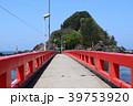 白山島 赤い橋 庄内浜の写真 39753920