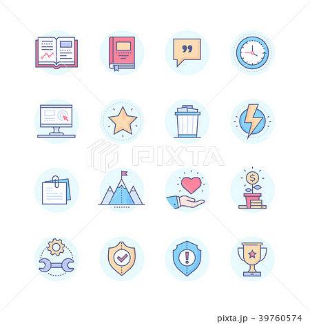 Business concepts - modern line design style icons 39760574