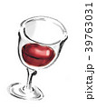 グラスワイン 赤ワイン ワインのイラスト 39763031
