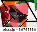ジオメトリック 幾何学的 背景のイラスト 39765330