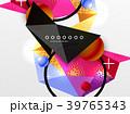ジオメトリック 幾何学的 カラフルのイラスト 39765343