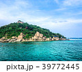 Island view with clear sea view background, image  39772445