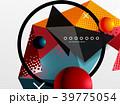 ジオメトリック 幾何学的 カラフルのイラスト 39775054