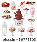 ショコラ チョコレート お菓子のイラスト 39775503