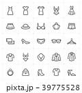 Mini Icon set - Clothing Woman icon bold line 39775528