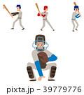 スポーツ 選手 ベースボールのイラスト 39779776