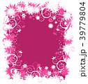 抽象的 花 フローラルのイラスト 39779804