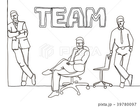 business team - continuous line drawing 39780097