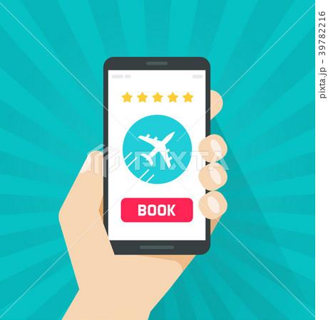 Flight tickets online from smartphone vector 39782216