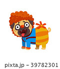 Funny pug dog character dressed as Carlson, funny 39782301