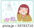 女の子 てるてる坊主 梅雨のイラスト 39783710