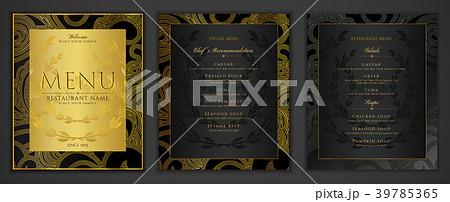 design restaurant menu template in black colorのイラスト素材