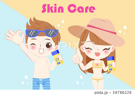 children with sun protection 39786226