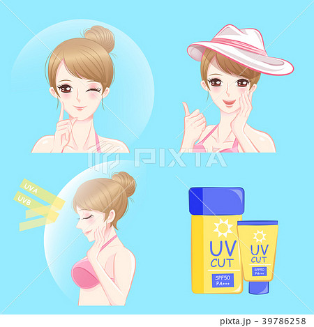 woman with sun protection concept 39786258