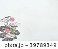 蓮と蛙(和紙の風合い) 39789349