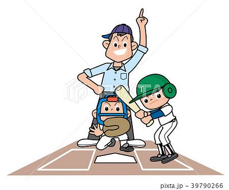 野球の試合をする少年野球チーム。 39790266