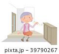 高齢者 女性 玄関のイラスト 39790267