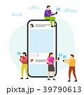 モバイル ソーシャル 人々のイラスト 39790613