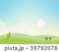 朝の風景(和紙の風合い) 39792078