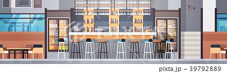 Modern Cafe Or Restaurant Interior With Bar 39792889