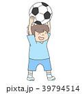 男の子 幼児 サッカーのイラスト 39794514