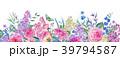 水彩画 バラ フラワーのイラスト 39794587