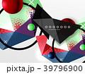 ジオメトリック 幾何学的 背景のイラスト 39796900