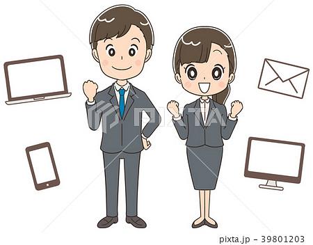 新人社員 仕事のイメージイラスト 39801203