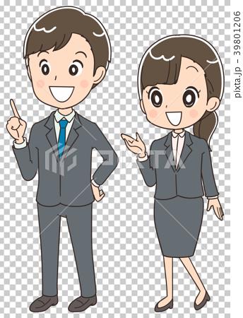 商務人士 商人 男人和女人 39801206