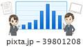 ビジネスマンとグラフ 業績のイメージイラスト 39801208