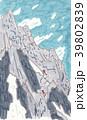 穂高連峰 ジャンダルムの登り 39802839
