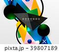 ジオメトリック 幾何学的 カラフルのイラスト 39807189